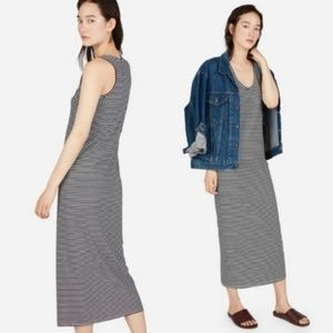 Everlane | Cotton Midi Dress Striped The Tank Long